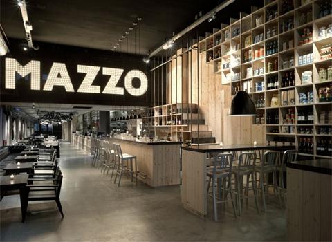 Industrial chic garrison hullinger interior design for Living room restaurants amsterdam